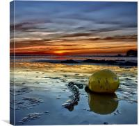 The Bouy at Sunset, Canvas Print
