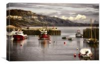 Lyme Regis Harbour, Canvas Print