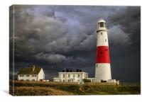 Stormy Weather at Portland Bill, Canvas Print