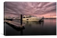 Sunseeker Sunset Poole Harbour, Canvas Print
