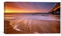 Colourful Pier Sunrise, Canvas Print