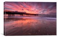 Boscombe Pier Sunrise, Canvas Print
