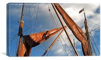 Thames Barge Sails., Canvas Print