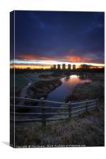 Power Plant Sunrise 2.0, Canvas Print