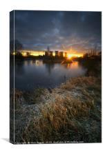 Power Plant Sunrise 5.0, Canvas Print