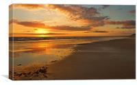A Goldern Bass Strait Sunset, Canvas Print
