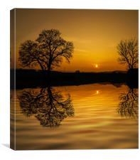 Sunset at Holbrook, Canvas Print