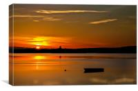 Sundown at Holyhead, Canvas Print