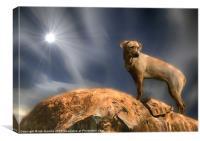THE LION HOUND, Canvas Print