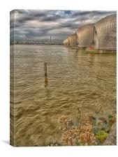 The Thames Barrier , Canvas Print