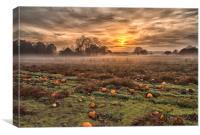 Pumpkins At Dusk, Canvas Print