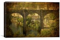 The Bridge at Knaresborough, Canvas Print