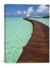 Maldivian Jetty, Canvas Print