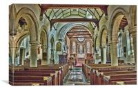 St Michael Mickleham, Canvas Print