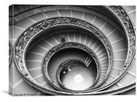 Spiral Staircase of the Vatican Museum, Canvas Print