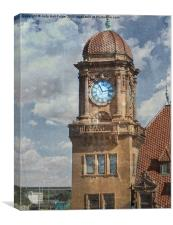 Train Station Clock Tower, Canvas Print