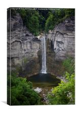 New York Mountain Waterfall, Canvas Print