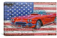 All American Beauty, Canvas Print