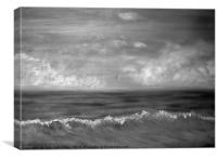Summer Dreams in black and white, Canvas Print