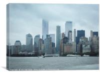Downtown New York City, Canvas Print