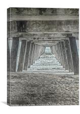 Under the Tybee Island Pier, Canvas Print