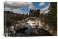 Bridge at Carrbridge, Scotland, Canvas Print