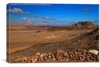 The Sinai Desert, Canvas Print