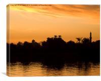 Nile Silhouette, Canvas Print