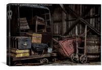 Railway Storage Shed, Canvas Print