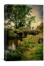 Wooden Bridge Over The Thames, Canvas Print