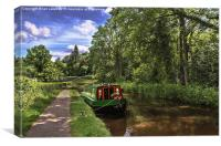 Towpath at Talybont on Usk, Canvas Print