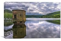 The Beacons From Talybont Dam, Canvas Print