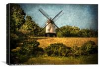 Cobstone Windmill Above Turville, Canvas Print