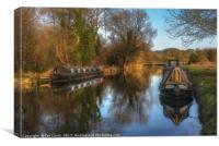 Narrow Boats At Woolhampton, Canvas Print
