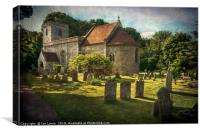 St Peter and St Paul Checkendon, Canvas Print
