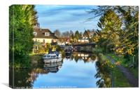 Towpath Into Hungerford, Canvas Print
