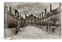 Vicars Close In The City Of Wells, Canvas Print
