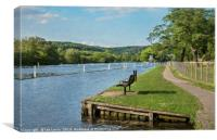 The Thames At Remenham Impressionist Style, Canvas Print
