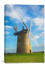 Great Haseley Windmill Impressionist Style, Canvas Print