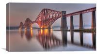 Forth Rail Bridge at sunset, Canvas Print