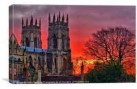 York Minster Sunset, Canvas Print