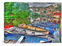 Knaresborough Rowing Boats 1, Canvas Print