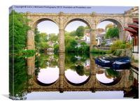 Knaresborough Reflections, Canvas Print