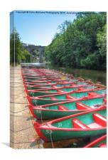 Knaresborough Rowing Boats 2, Canvas Print