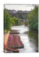 Knaresborough Rowing Boats 3, Canvas Print