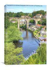 View From The Castle - Knaresborough Summer, Canvas Print