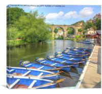 Knaresborough Rowing Boats 4, Canvas Print