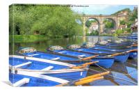 Knaresborough Rowing Boats 5, Canvas Print