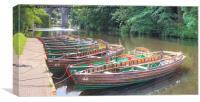 Knaresborough Rowing Boats 6, Canvas Print