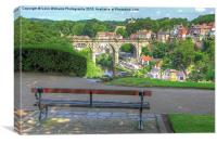 The View  Knaresborough  Yorkshire, Canvas Print